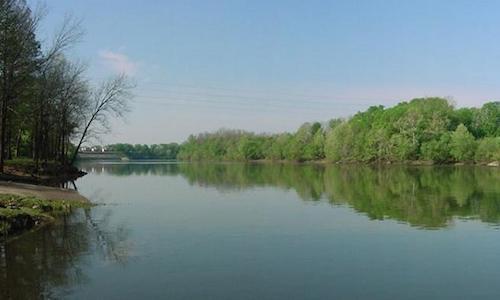 Coosa River in Wetumpka, AL